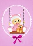 Baby female on swing Stock Photos