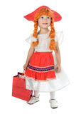 Baby in festival dress royalty free stock images