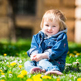Baby in field Royalty Free Stock Photos