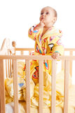 Baby with finger in mouth Royalty Free Stock Images