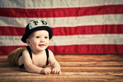 Baby Firefighter Royalty Free Stock Images