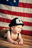 Baby Firefighter Royalty Free Stock Photography