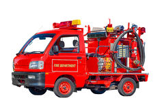 Baby Firetruck Isolated on White Stock Images