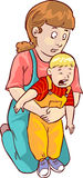 Baby first aid. Vector color illustration of baby first aid Royalty Free Stock Image