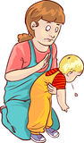 Baby first aid. A vector illustration of baby first aid Royalty Free Stock Photo