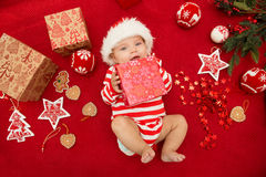 Baby first christmas. Stock Photography