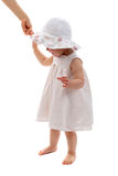 Baby  first steps Stock Photos