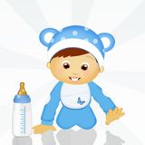 Baby first steps. Illustration of baby first steps Stock Photos