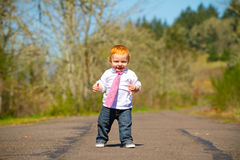 Baby First Steps Royalty Free Stock Photo