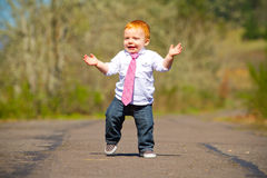 Baby First Steps Stock Images