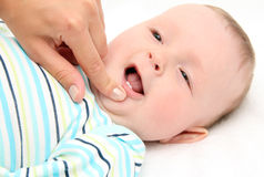 Baby first teeth Stock Photo