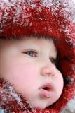 Baby first winter Royalty Free Stock Photography