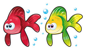 Baby Fish. Vector image, software: Illustrator Royalty Free Stock Photography