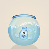 Baby fish male in the bowl. Illustration of baby fish male in the bowl Royalty Free Stock Photography