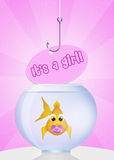 Baby fish with pacifier Stock Images