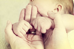 Baby fists Royalty Free Stock Photography