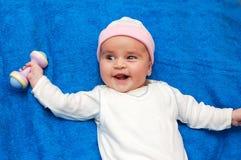 Baby fitness royalty free stock photo