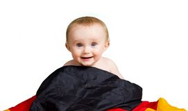 Baby with flag Royalty Free Stock Photos