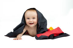 Baby with flag Stock Images