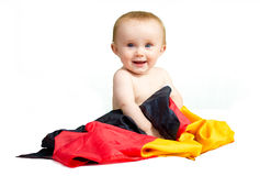 Baby with flag Stock Photo