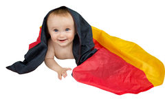 Baby with a flag Stock Photography