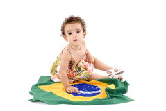Baby and Flag Royalty Free Stock Photo