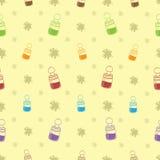 Baby-Flaschen-Hintergrund-Muster Lizenzfreies Stockbild