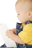 Baby with Flash Card stock photos
