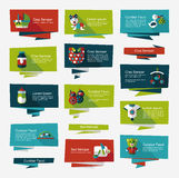 Baby flat banner background set,eps10 Royalty Free Stock Photography