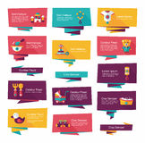 Baby flat banner background set,eps10 Stock Photos
