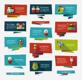 Baby flat banner background set,eps10 Royalty Free Stock Photo