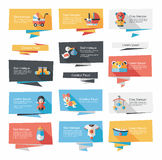 Baby flat banner background set,eps10 Royalty Free Stock Photos