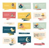 Baby flat banner background set,eps10 Royalty Free Stock Images