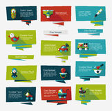 Baby flat banner background set,eps10 Stock Images