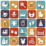 Baby Flat Icons. Vector Illustration. Stock Photography