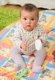 Baby on floor Royalty Free Stock Photo