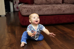 Baby on the floor Stock Photography