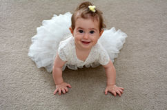 Baby flower girl on wedding day Royalty Free Stock Photos