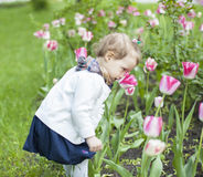 Baby with flower Royalty Free Stock Photos