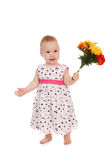 Baby with flowers Stock Photo