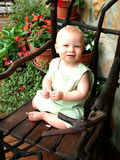 Baby with Flowers royalty free stock photography