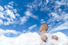 Baby flying Royalty Free Stock Photos