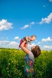 Baby flying high Stock Image
