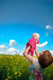 Baby Flying High Stock Photos