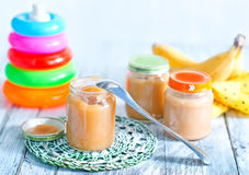 Baby food royalty free stock photo