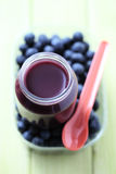 Baby food - blueberries Royalty Free Stock Images