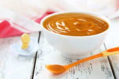 Baby food in bowl Royalty Free Stock Photo