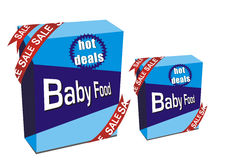 Baby food boxes Royalty Free Stock Image