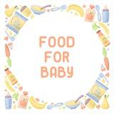 Baby food card vector illustration