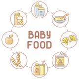 Baby food card stock illustration